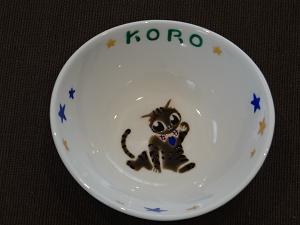 オーダー猫用食器顔koro