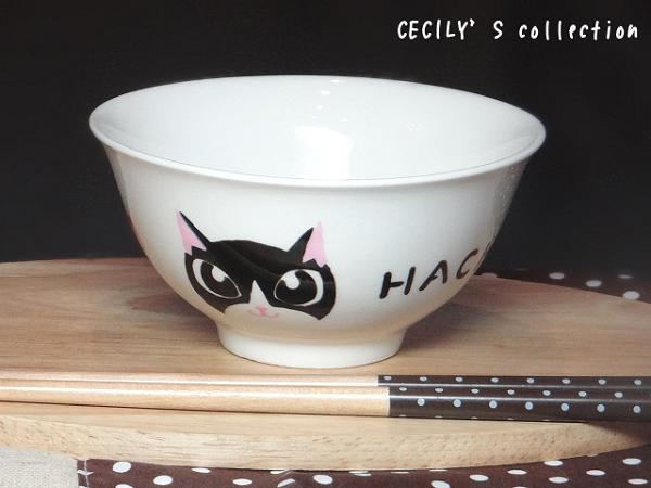 オーダー猫茶碗顔デザイン【名入れ】選べるカラー6