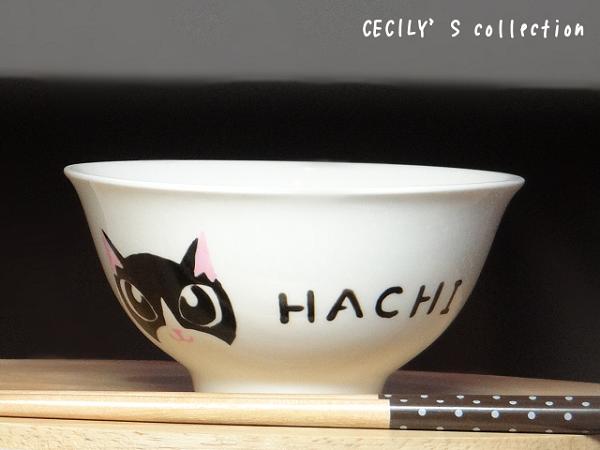 オーダー猫茶碗顔デザイン【名入れ】選べるカラー7