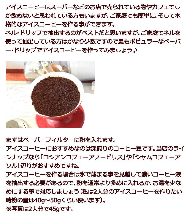 アイスコーヒーの作り方1