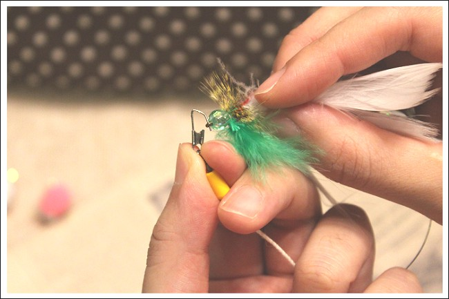 毛鉤風おもちゃ取り替え方法2